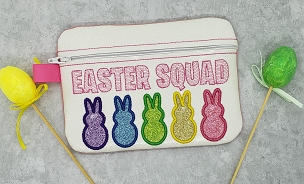 Peep Squad Zipper Bag Embroidery Design